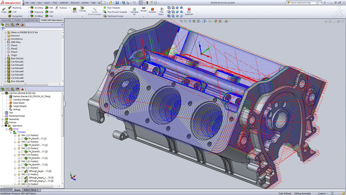 SolidCAM CAM Software: Indexial Multiaxis Machining
