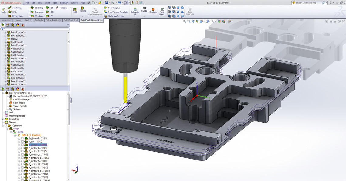 Solidcam Cam Software 2 5d Milling