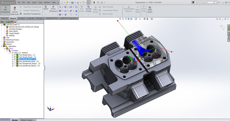 how to change axis orientation in solidworks