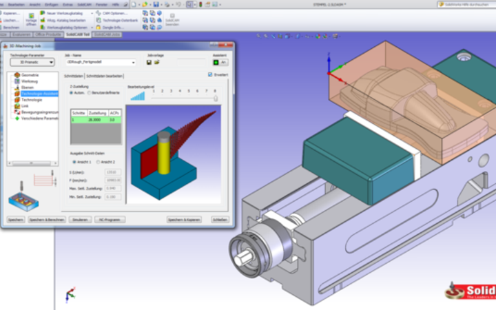 SolidCAM CAM software 3D iMachining